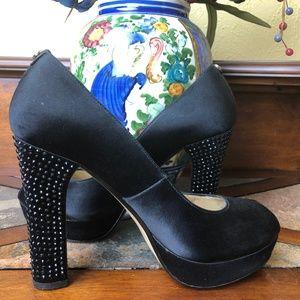 Black Michael Kors Platform Sequin Shoes Size 8.5